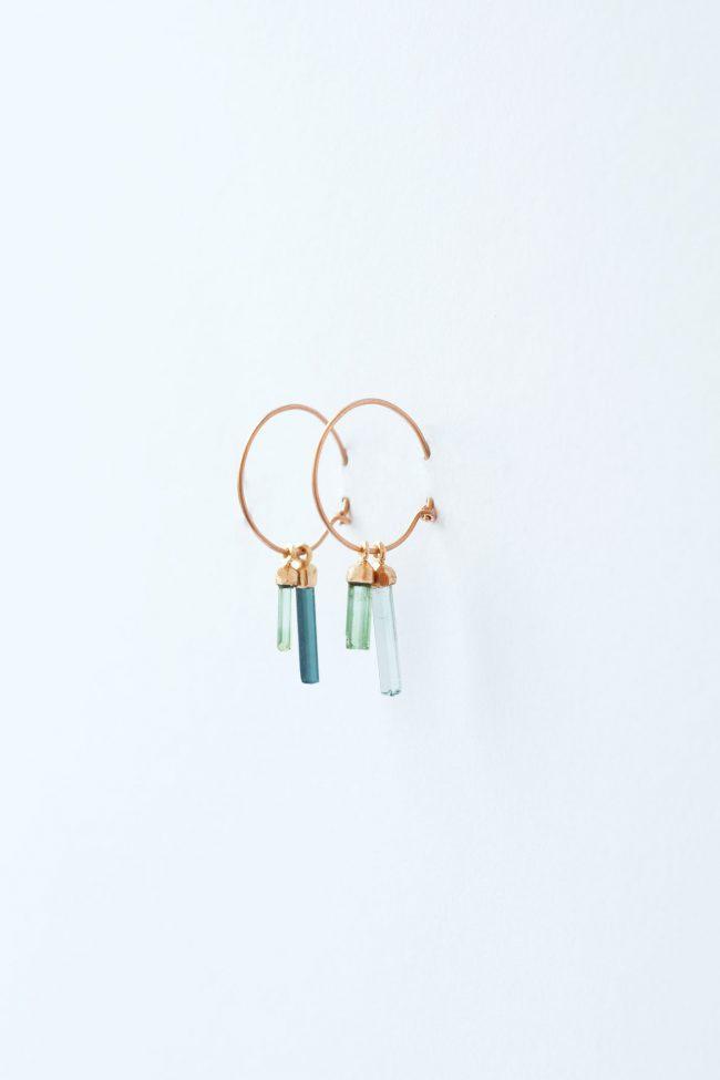 tourmalines — earrings