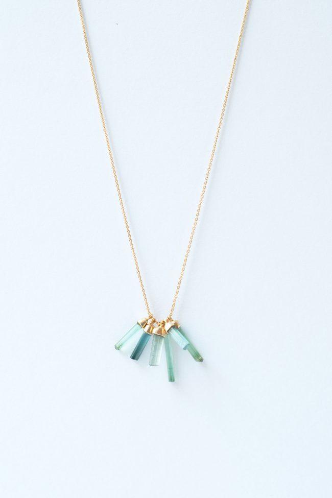 tourmalines — necklaces